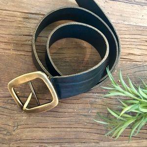 NWOT Men's Dolce & Gabbana leather black belt 42in